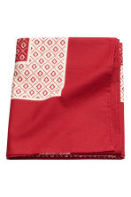 Patterned cotton tablecloth - Red/White patterned - Home All | H&M CN 2
