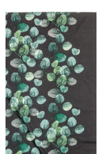 Patterned cotton tablecloth - Anthracite grey/Leaf - Home All | H&M CA 2
