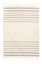 Jacquard-patterned tablecloth - Natural white/Striped - Home All | H&M CN 3