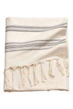 Jacquard-patterned tablecloth - Natural white/Striped - Home All | H&M CA 2