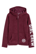 Fleece jacket with a hood - Burgundy - Kids | H&M CN 1