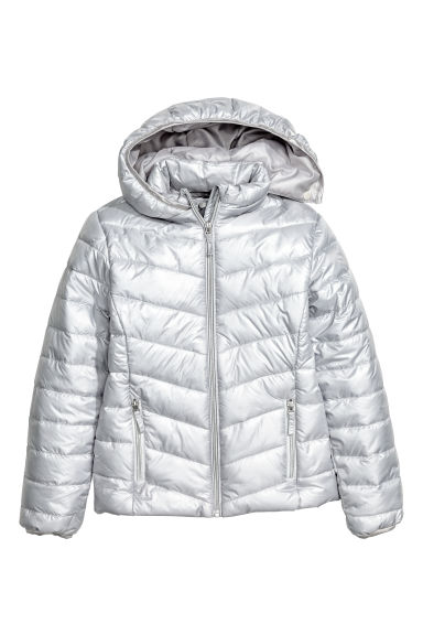 Padded jacket - Silver-colored -  | H&M