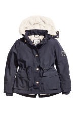 Parka with faux fur lining - Dark blue -  | H&M 2