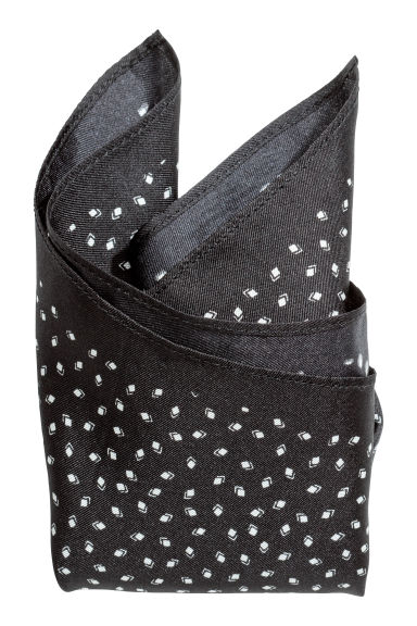Patterned silk handkerchief - Black/Patterned -  | H&M GB