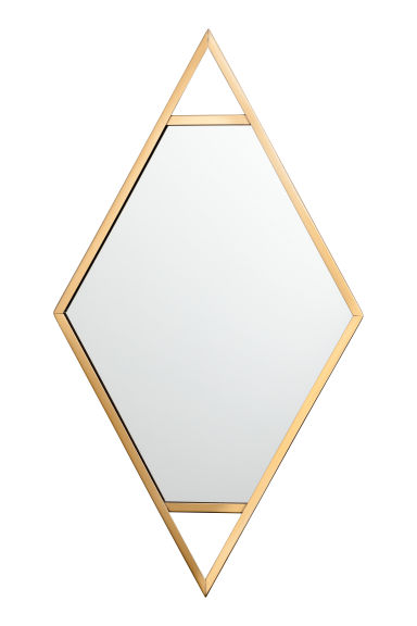 Metal-framed mirror - Gold - Home All | H&M CN 1