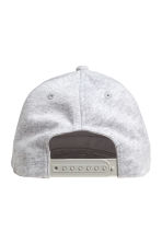 Cap with an appliqué - Light grey marl -  | H&M CA 2