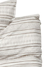 Patterned duvet cover set - Light beige - Home All | H&M CA 2