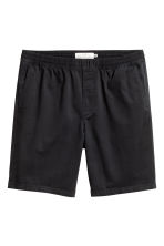 Knee-length twill shorts - Black - Men | H&M CN 2