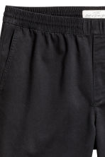 Knee-length twill shorts - Black - Men | H&M CN 4