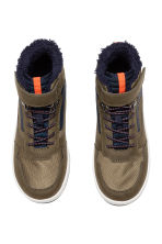 Pile-lined hi-tops - Khaki/Dark blue - Kids | H&M 2