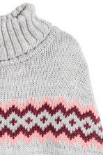 Knitted poncho - Grey - Kids | H&M CN 2
