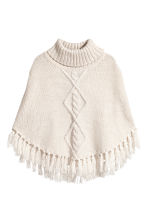 Knitted poncho - Natural white/Glittery - Kids | H&M CN 1
