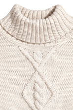 Knitted poncho - Natural white/Glittery - Kids | H&M 2