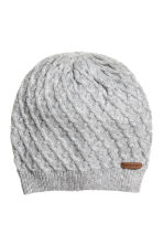 Textured-knit Hat - Gray -  | H&M CA 1