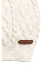 Textured-knit Hat - Natural white - Kids | H&M CA 2