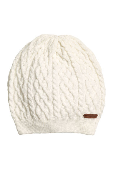 Textured-knit hat - Natural white - Kids | H&M 1