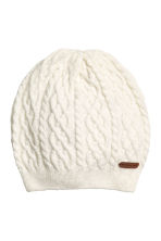 Textured-knit Hat - Natural white - Kids | H&M CA 1