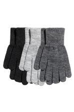 3-pack gloves - Black/Grey -  | H&M 1