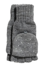 Mittens/fingerless gloves - Dark grey -  | H&M CN 1