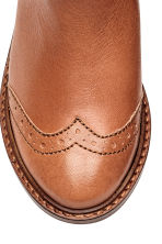 Leather jodhpur boots - Rust brown -  | H&M GB 3