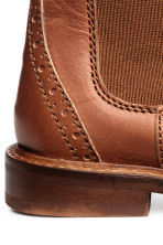 Leather jodhpur boots - Rust brown - Kids | H&M 4
