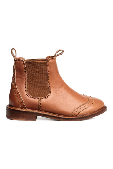 Leather jodhpur boots - Rust brown - Kids | H&M