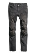 Knee-patch biker trousers - Nearly black - Kids | H&M 2