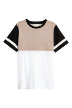 Camiseta en bloque de color - Beige/Blanco -  | H&M ES 2