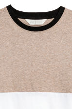 Camiseta en bloque de color - Beige/Blanco -  | H&M ES 3