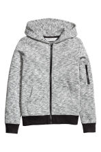 Knitted fleece jacket - Grey marl - Kids | H&M 2