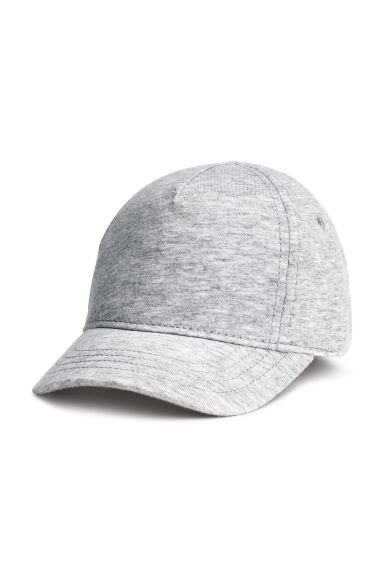 Cotton twill cap - Light grey marl - Kids | H&M 1