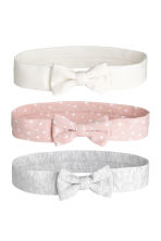 3-pack hairbands - Powder pink/Hearts - Kids | H&M 1