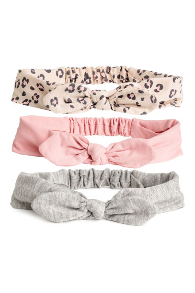 3-pack hairbands - Light pink/leopard print -  | H&M CA 1