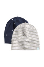 2-pack jersey hats - Dark blue/Grey - Kids | H&M 2