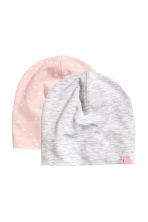 2-pack jersey hats - Pink/Light grey -  | H&M 1