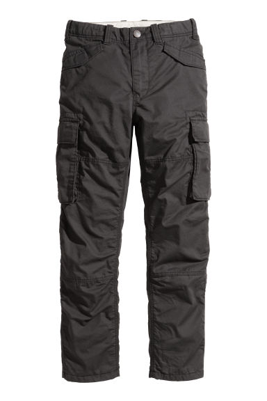 Lined cargo trousers - Black - Kids | H&M