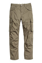 Lined cargo trousers - Khaki green - Kids | H&M CN 2
