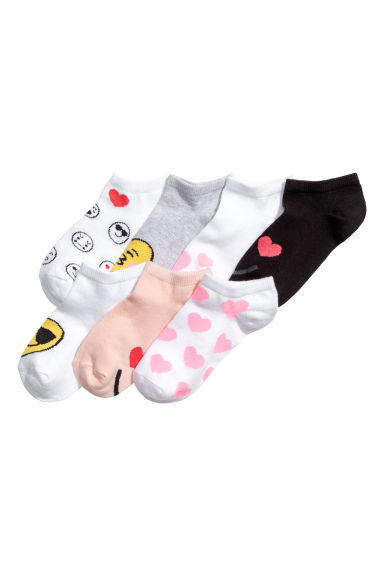 7-pack trainer socks - White/Emoji - Kids | H&M 1