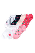 7-pack trainer socks - Pink/Cherry - Kids | H&M 1