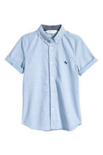 Short-sleeved cotton shirt - Light blue - Kids | H&M 2