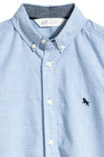 Short-sleeved cotton shirt - Light blue - Kids | H&M 3