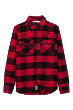 Flannel shirt - Red/Checked -  | H&M 2
