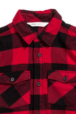 Flannel shirt - Red/Checked -  | H&M 3