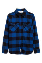 Flannel shirt - Blue/Checked -  | H&M 2