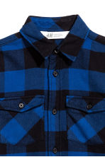 Flannel shirt - Blue/Checked -  | H&M 3