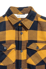 Flannel shirt - Mustard yellow/Checked - Kids | H&M CN 3