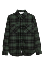 Dark green/plaid