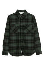 Flannel shirt - Dark green/Checked - Kids | H&M 2