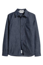 Cotton Shirt - Dark blue/chambray - Kids | H&M CA 2