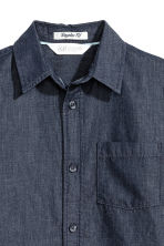 Cotton shirt - Dark blue/Chambray -  | H&M 3